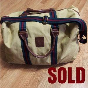 SOLD!!! vintage ralph lauren duffle bag